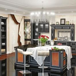 Мебель для кухни афина-неро
