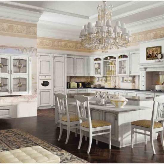 Кухня GoldElite Bianco-Argento